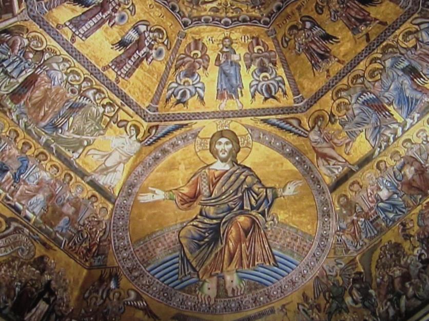 Detalle De Los Mosaicos Del Juicio Final En El Interior Del